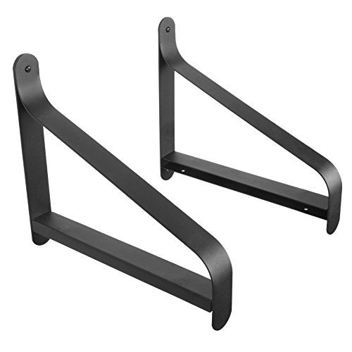 ArtifactDesign Metal Shelf Brackets With Modern Heavy Duty Design Fits 11 Wood Shelves Perfect For Bookcase TV Storage Rack Garage Wall Mounting Pack Of 2