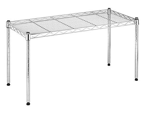 whitmor steel supreme wide stacking shelf 14 x 30 x 16inch chrome