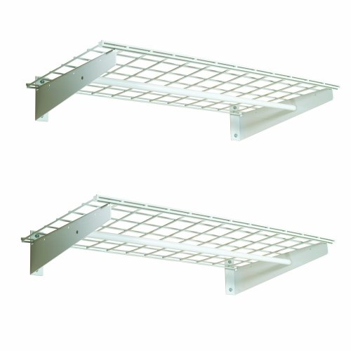 Hyloft 777 36 By 18 Inch Wall Shelf With Hanging Rod 2